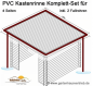 Preview: Dachrinne Viereckdach-Set 60m² bis 4x3,0m