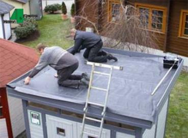 epdm dachfolie komplett set inkl kleber gr e 6 10 x 3 50 m. Black Bedroom Furniture Sets. Home Design Ideas