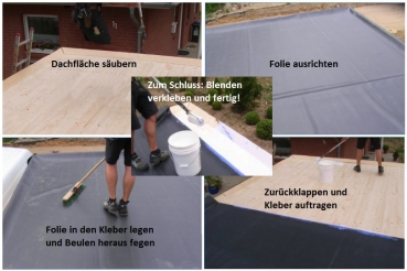 epdm dachfolie 7 62 m im zuschnitt materialst rke 1 2mm. Black Bedroom Furniture Sets. Home Design Ideas