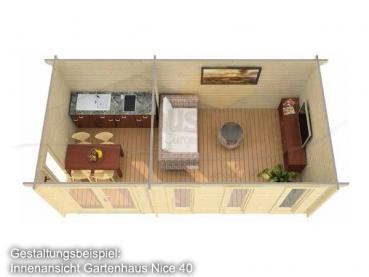 gartenhaus nice iso 40 gr e 5 75 x 3 00 m. Black Bedroom Furniture Sets. Home Design Ideas