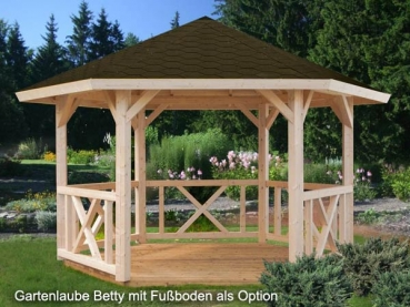 6-Eck Gartenlaube Betty 9,9m²