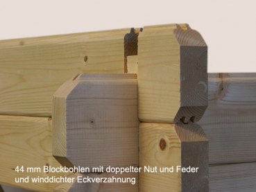 gartenhaus irene 21 9 5 2m gr e 5 30 x 5 70 m inklusive fu boden. Black Bedroom Furniture Sets. Home Design Ideas