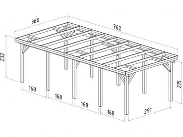 palmako premium einzel carport karl 2 mit abstellraum 3. Black Bedroom Furniture Sets. Home Design Ideas