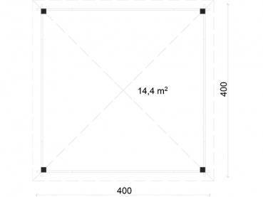 gartenlaube lanzarote gr e 4 00 x 4 00 m gartenpavillon. Black Bedroom Furniture Sets. Home Design Ideas