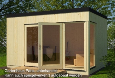 palmako gartenhaus paris 18 70 iso 4 53 x 3 30 m komplettbausatz. Black Bedroom Furniture Sets. Home Design Ideas