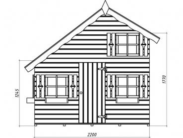 spielhaus tom gr e 2 20 x 1 80 m. Black Bedroom Furniture Sets. Home Design Ideas