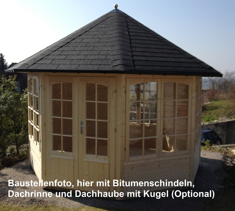8 eck pavillon emma 40 4f durchmesser 3 67 m. Black Bedroom Furniture Sets. Home Design Ideas