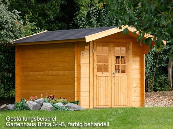 gartenhaus britta 34 c gr e 2 60 x 3 40 m. Black Bedroom Furniture Sets. Home Design Ideas