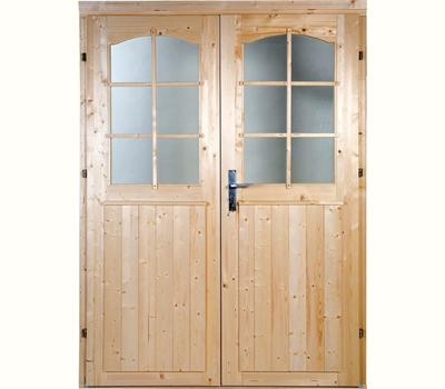 Doppeltür Holz gartenhaus doppeltür rundbogen 1 2 verglast 1 425 x 1 955 m