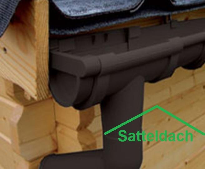 kunststoff dachrinnen komplett set f r satteld cher bis 4. Black Bedroom Furniture Sets. Home Design Ideas