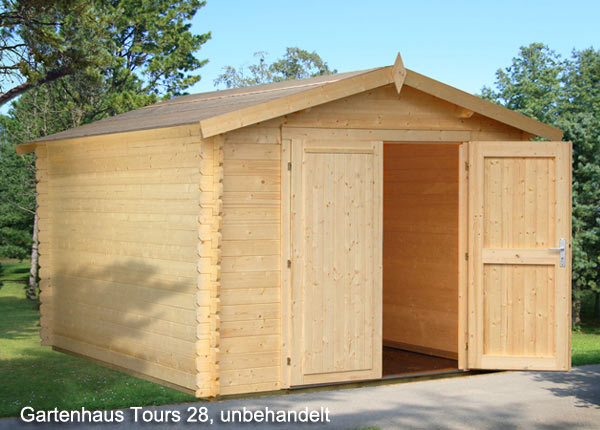 holzgarage gartenhaus tours 28 mm garage bikeport gr e 2 96 x 3 80 m. Black Bedroom Furniture Sets. Home Design Ideas