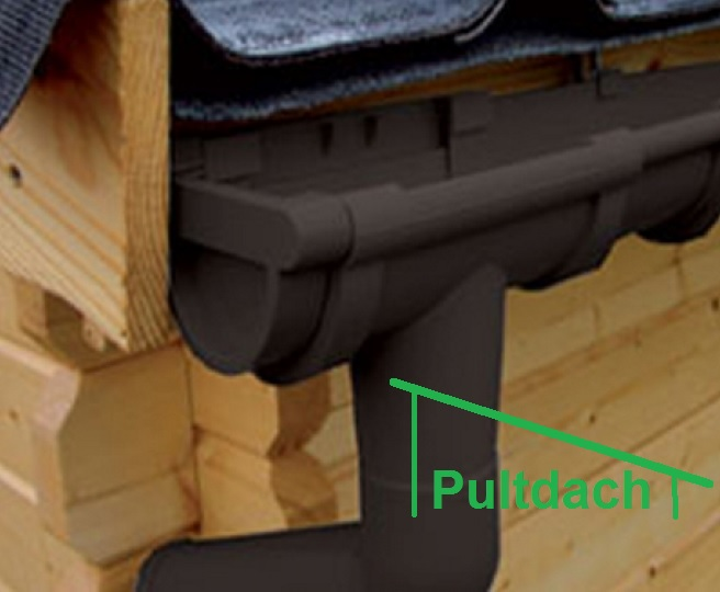 kunststoff dachrinnen komplett set f r pultd cher carports bis 50m fl che bis 4 00 m dachl nge. Black Bedroom Furniture Sets. Home Design Ideas