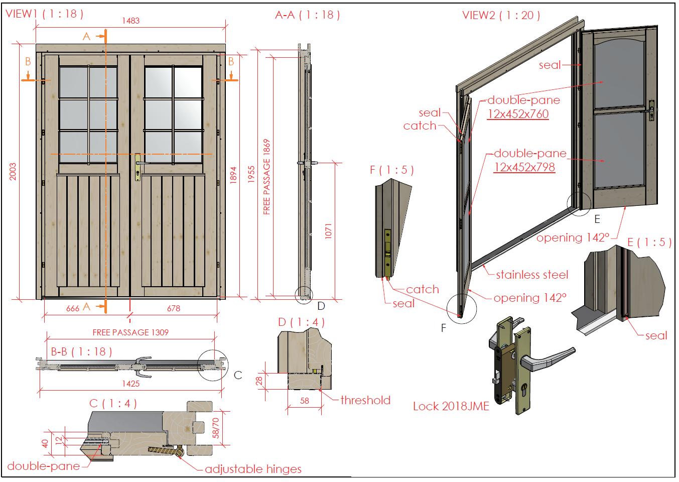 gartenhaus doppelt r iso glas gerade 1 2 verglast 1 425. Black Bedroom Furniture Sets. Home Design Ideas