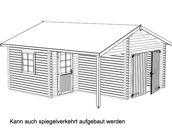 Holzgarage Roger 21,9+5,2m²