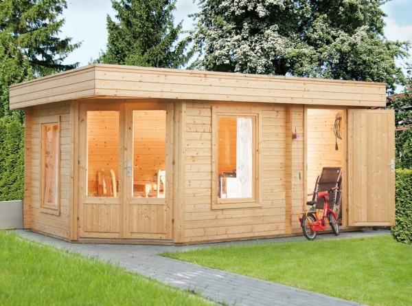 gartenhaus maja 40 b 2 mit abstellraum wolff finnhaus 4 73x2 19m dichtungsbahn ebay. Black Bedroom Furniture Sets. Home Design Ideas