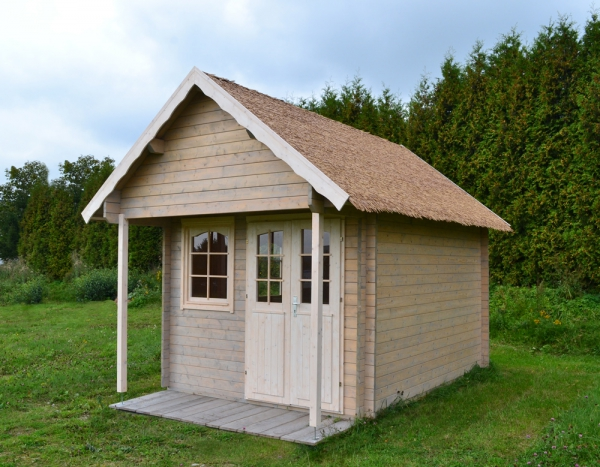Bunkie mit alternativem Stroh- / Reetdach