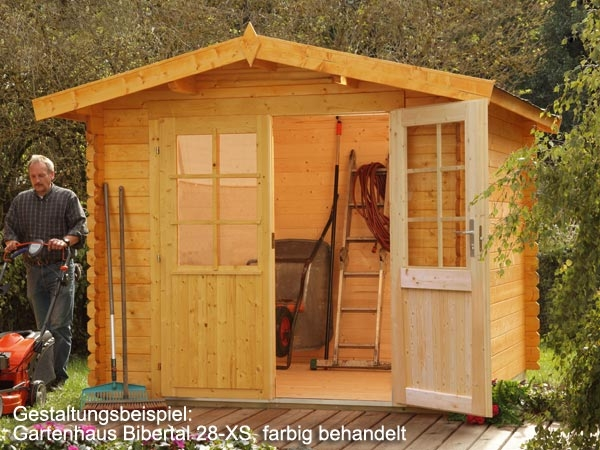 gartenhaus ger tehaus mit doppelt r bibertal 28 xs 2 60 x 2 20 m sonderangebot. Black Bedroom Furniture Sets. Home Design Ideas