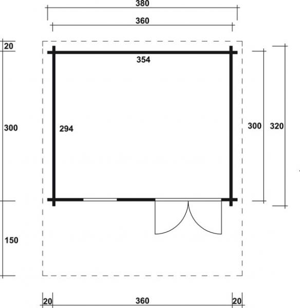 gartenhaus jana 28 a mit doppelt r 3 80 x 3 20 m sonderangebot. Black Bedroom Furniture Sets. Home Design Ideas