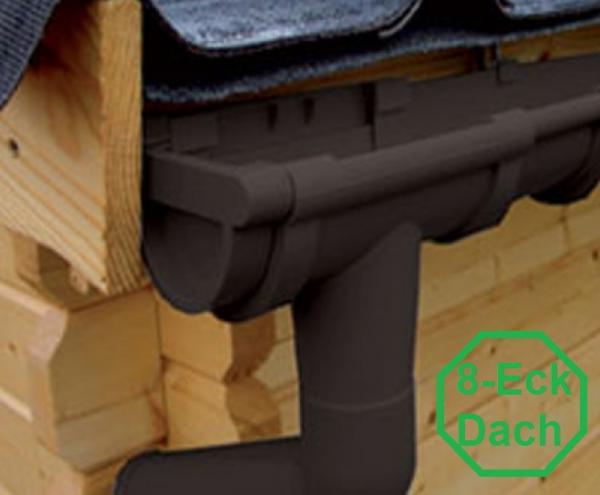 pvc kunststoff dachrinnen komplett set f r 8 eck d cher f r 8 seiten bis 1 50 m dachl nge. Black Bedroom Furniture Sets. Home Design Ideas