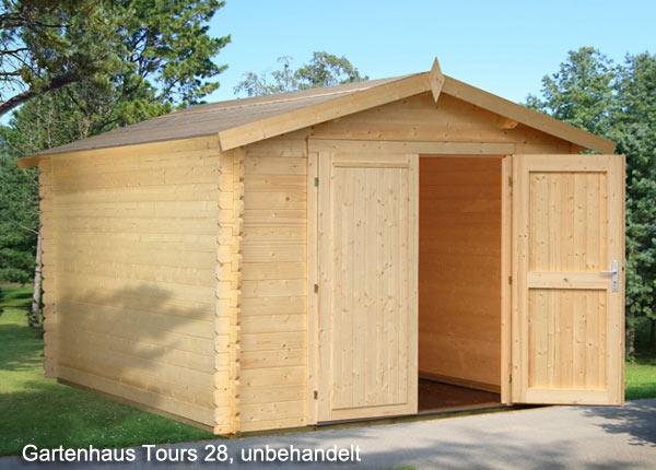 Holzgarage Gartenhaus Tours 28 Mm Garage Bikeport Grosse 2 96 X 3 80 M