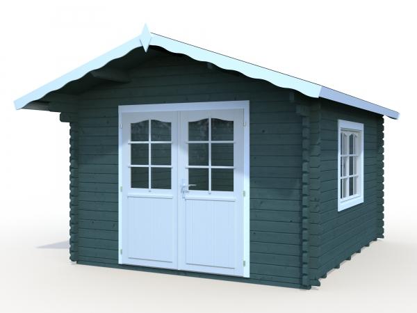 blockhaus gartenhaus sally 10 2m gr e 3 20 x 3 80 m. Black Bedroom Furniture Sets. Home Design Ideas